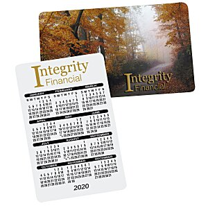 Plastic Calendar Card - Full Color Process Main Image