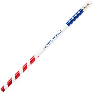 Foiled Foreman Pencil - Patriotic