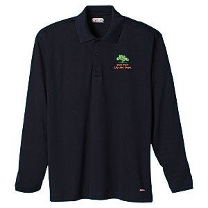 Brecon Long Sleeve Moisture Wicking Polo - Men's - 24 hr Main Image