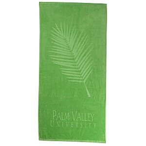 Tone on Tone Stock Art Towel - Palm Frond Main Image