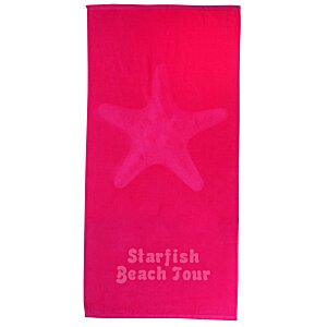 Tone on Tone Stock Art Towel - Starfish