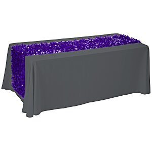 6' Closed-Back Table Throw with Floral Runner - Blank Main Image