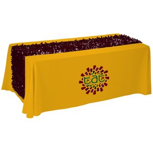 6' Closed-Back Table Throw w/Floral Runner - Heat Transfer