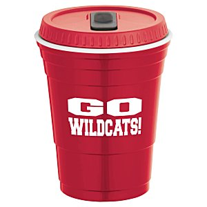 Game Day Cup w/Lid - Opaque - 16 oz. Main Image