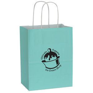 "Solid Tinted Recycled Shopping Bags - 10-1/2"" x 8"" Main Image"