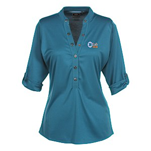 OGIO Poly Interlock Stay-Cool Henley - Ladies' Main Image
