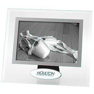 "4"" x 6"" Glass Frame with Metal Plate"