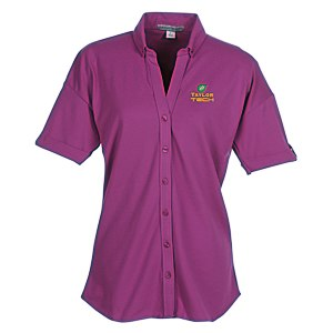 Soft Stretch Pique Button Front Shirt - Ladies' Main Image
