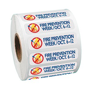 "Full Color Sticker by the Roll - Rectangle - 1/2"" x 2"""