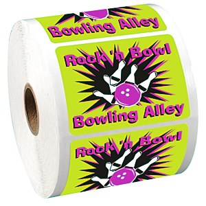 "Full Color Sticker by the Roll - Rectangle - 2"" x 2-3/4"" Main Image"
