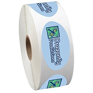 "Full Color Sticker by the Roll - Oval - 1-1/4"" x 2-1/4"" Main Image"