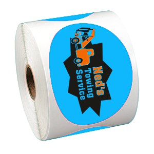 "Full Color Sticker by the Roll - Oval - 2-5/8"" x 3-3/4"" Main Image"