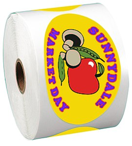 "Full Color Sticker by the Roll - Oval - 2-1/2"" x 4-1/4"" Main Image"