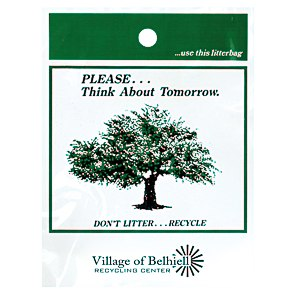 Litter Bag - Think About Tomorrow