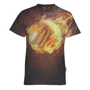 Jersey Knit 5.5 oz. Polyester T-Shirt-Men's-Dye-Sublimated Main Image