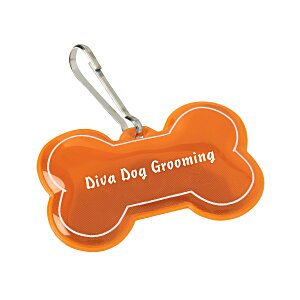 Reflective Pet Collar Tag - Dog Bone Main Image