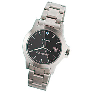 Hamburg Brushed Steel Watch - Men's Main Image
