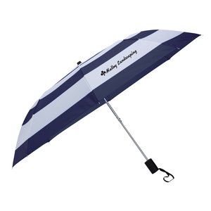 "Nautical Stripe Umbrella - 44"" Arc Main Image"