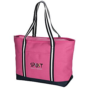 Large Cotton Canvas Admiral Tote - Embroidered Main Image