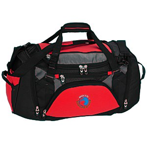 "Vertex Tech Duffel - 10-1/2"" x 22"" - Embroidered Main Image"