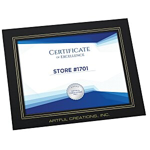 "Wrapped Edge Certificate Frame - 8-1/2"" X 11"""
