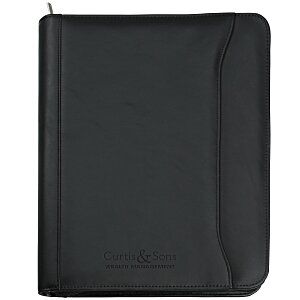 Millennium Leather Zippered Portfolio