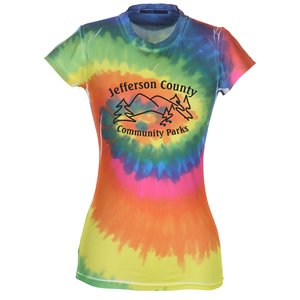 Tie-Dye Junior Fit Performance T-Shirt - Moondance Main Image