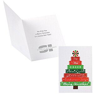 Designer Tree Christmas Greeting Card Main Image