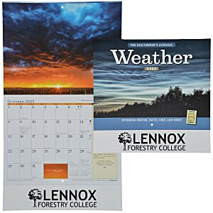 The Old Farmer's Almanac Calendar - Weather - Stapled- 24hr Main Image