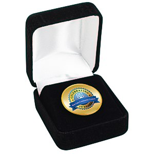 Circle Lapel Pin with Gift Box Main Image