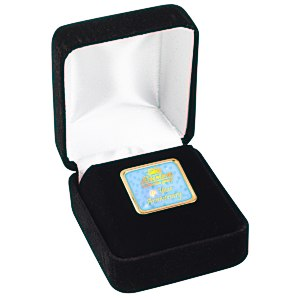 Square Lapel Pin with Gift Box Main Image