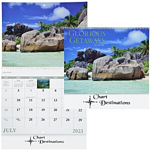 Glorious Getaways Calendar - Spiral - 24 hr Main Image