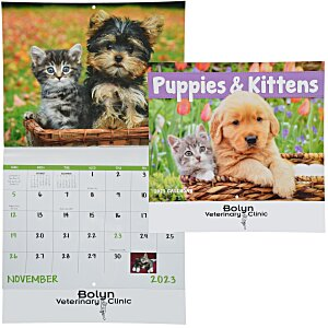 Puppies & Kittens Calendar - Stapled - 24 hr Main Image
