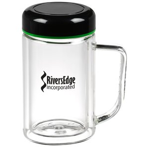 Double Wall Glass Mug - 10 oz. - Closeout Main Image