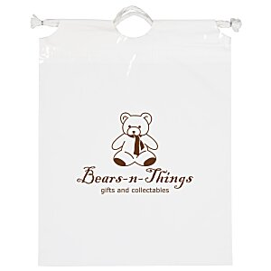 "Poly Bag with Cotton Drawstring - 12"" x 9-1/2"" Main Image"