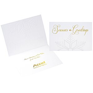 Embossed Snowflake Greeting Card Main Image