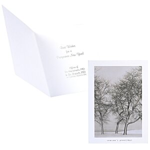 Snow Blown Trees Greeting Card Main Image