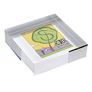 Square Acrylic Paperweight - Full Color Main Image
