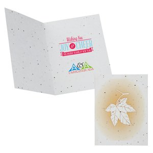 Maple Leaf Seeded Greeting Card Set Main Image