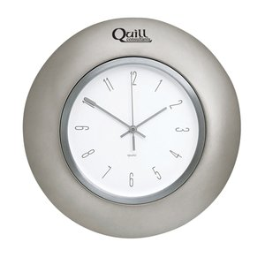 "Horlomur Series Wall Clock - Pewter - 12-1/2"" - Closeout Main Image"