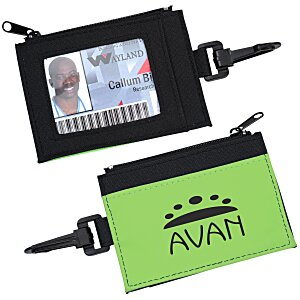 Zip Pouch ID Holder - Black - 24 hr Main Image