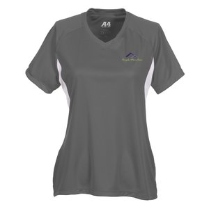 A4 Cooling Performance V-Neck Colorblock Tee - Ladies' - Emb Main Image