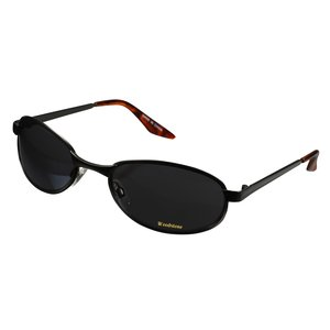 Oval Wrap Gunmetal Sunglasses - Closeout Main Image