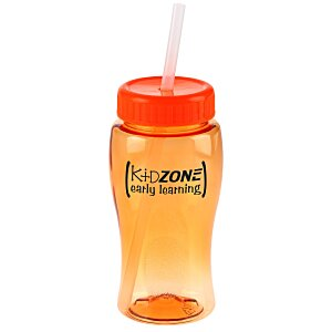 Poly-Pure Lite Bottle with Straw Lid - 18 oz. Main Image