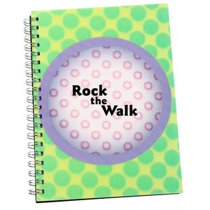 3D Spiral Notebook - Circle - Closeout Main Image