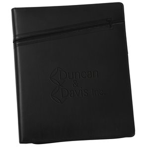 Cross Zippered Padfolio - Debossed