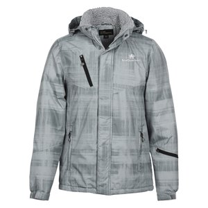 Brushstroke Hooded Insulated Jacket - Men's