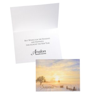 Golden Sunset Greeting Card Main Image