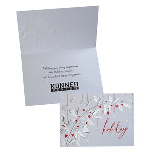 Holiday Red Berries Greeting Card - Main Image