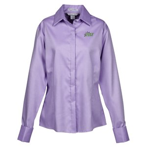 Refine Wrinkle Free Royal Oxford Dobby Shirt - Ladies Main Image